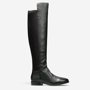 Cole Haan Duchess black over the knee boots